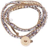 lonna & lilly Gold-Tone Braided Cord Beaded Wrap Bracelet