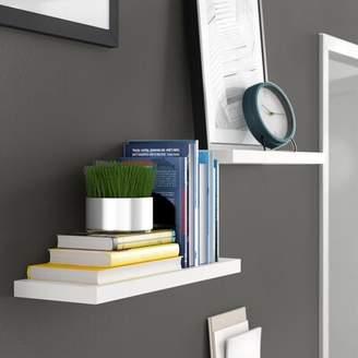 "Zipcode Design Kennesaw Floating Wall Shelf Zipcode Design Size: 1.25"" H x 24"" W x 8"" D, Finish: White"