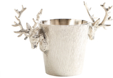 Raw Aluminum Reindeer Champagne Cooler