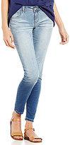 YMI Jeanswear Luxe Woven Stretch Destruction Skinny Cuffed Ankle Jeans