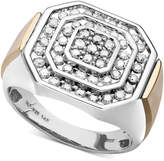 Macy's Men's Diamond Ring in 14k Gold and Sterling Silver (1 ct. t.w.)