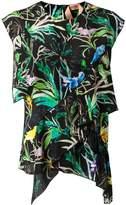 No.21 tropical print blouse