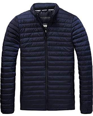 Scotch & Soda Men's Simple Quilted Fake Down Jacket