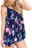Tenworld Women's Floral Printed Cami Vest Tunic Tops Spaghetti Strap Tank Top (M, )