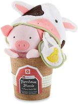 Baby Aspen 3-Piece Farmhouse Friends Bathtime Bucket Gift Set