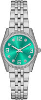 JCPenney FASHION WATCHES Womens Crystal-Accent Mini Bracelet Watch