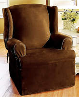 Sure Fit Soft Faux Suede Wing Chair Slipcover