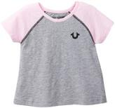 True Religion Short Sleeve Raglan Tee (Toddler & Little Girls)