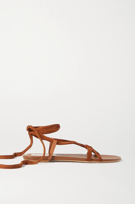 Gabriela Hearst Reeves Leather And Suede Sandals - Tan