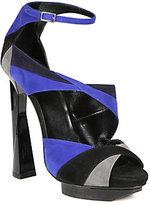 Pierre Hardy Colorblock Suede Platform Sandals