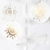 Minted Nordic Noel Gold Foil-Pressed Paper Ornaments