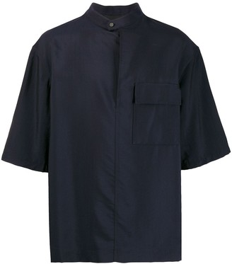 3.1 Phillip Lim Oversized Band Collar Shirt