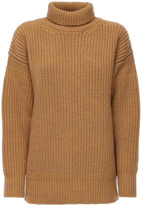 Marni Rib Knit Wool Turtleneck Sweater