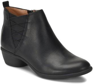 Comfortiva Criss Cross Leather Booties - Questa