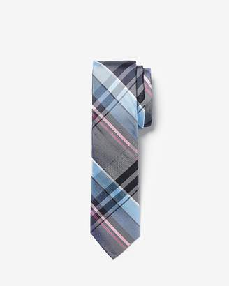 Express Narrow Plaid Silk Tie