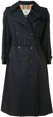 Burberry Pre Owned Double-Breasted Belted Trench Coat
