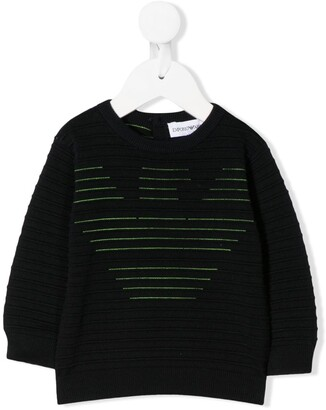 Emporio Armani Kids Logo Ribbed Jumper