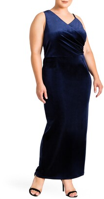 Standards & Practices Regan Velvet Sheath Gown