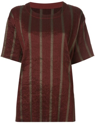 UMA WANG striped short-sleeve top