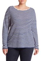 Eileen Fisher, Plus Size Plus Striped Organic Cotton-Blend T-Shirt