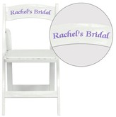 Hercules Series Personalized Vinyl Padded Folding Chair Flash Furniture Color: Mahogany