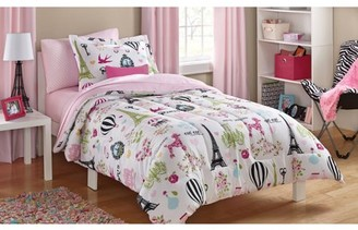 Mainstays Kids Paris Bed-in-a-Bag Coordinating Bedding Set