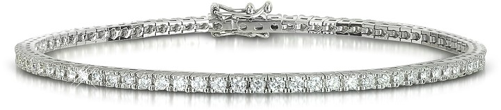 Forzieri 1.56 ctw Diamond 18K White Gold Tennis Bracelet