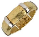 Torrini Morphos - 18K Yellow and White Gold Cuff Bracelet