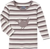 Kickee Pants Applique Tee (Baby) - Rain Stripe Blackbird-3-6M