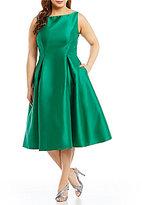 Adrianna Papell Plus Sleeveless Taffeta Dress