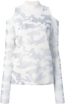 Zoe Jordan - Hawking camouflage print tunic - women - Cashmere/Wool - S/M
