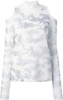 Zoe Jordan - Hawking camouflage print tunic - women - Wool/Cashmere - XXXS