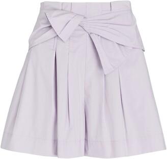 Ulla Johnson Paloma Tie-Waist Poplin Shorts