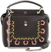 Fendi Women's Dotcom Click Floral Small Leather Satchel