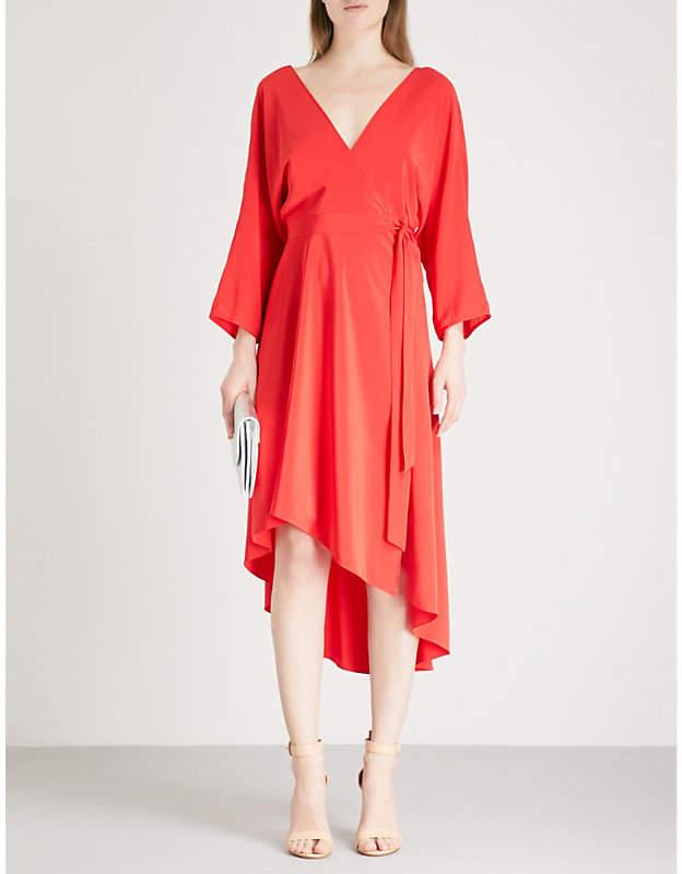 Diane von Furstenberg Asymmetric-hem silk dress