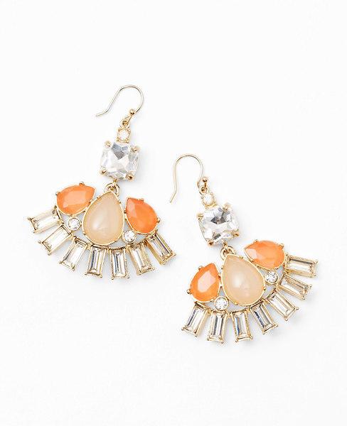 Ann Taylor Teardrop Cluster Chandelier Earrings