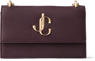 Jimmy Choo BOHEMIA Bordeaux Calf Leather Mini Bag with Chain Strap