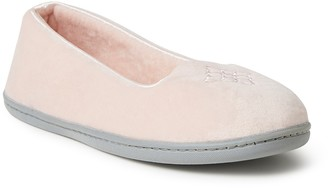Dearfoams Rebecca Velour Slipper