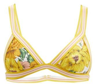 Zimmermann Poppy Floral-print Triangle Bikini Top - Yellow Print