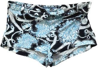 Prada Blue Silk Shorts