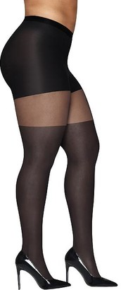 Hanes Plus Size Curves Illusion Control Top Tights