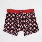 River Island MensRed Super Mario print trunks