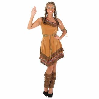 Fun Shack Womens Native American Brown Dress Large