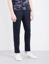Sandro Slim-fit tapered linen trousers