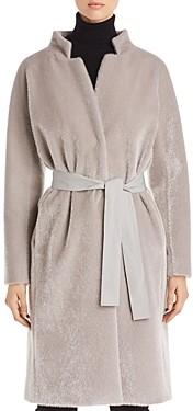 Herno Belted Faux Fur Coat