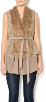 Double Zero Furry Mocha Vest
