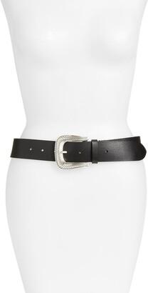 Frye Western Leather Belt