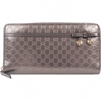 Gucci Grey Patent leather Wallets
