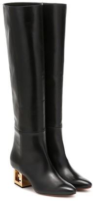 Givenchy Triangle leather over-the-knee boots