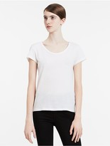 Calvin Klein Jeans Fitted Cotton Lyocell V-Neck T-Shirt